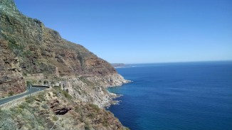 Curving road extends from Chapman's Peak