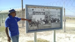 Guide was once a prisoner on Robben Island