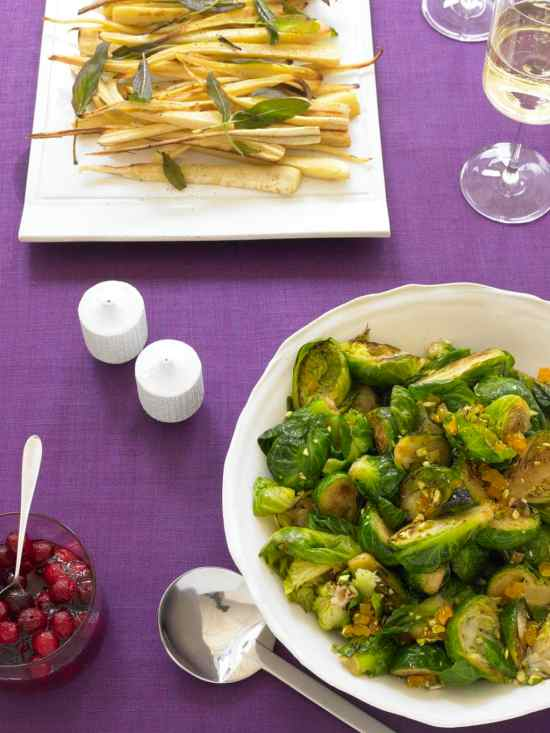 Brussels Sprouts With Apricot And Pistachio