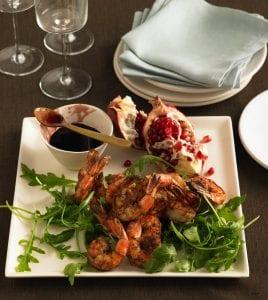 Shrimp with Pomegranate Sauce