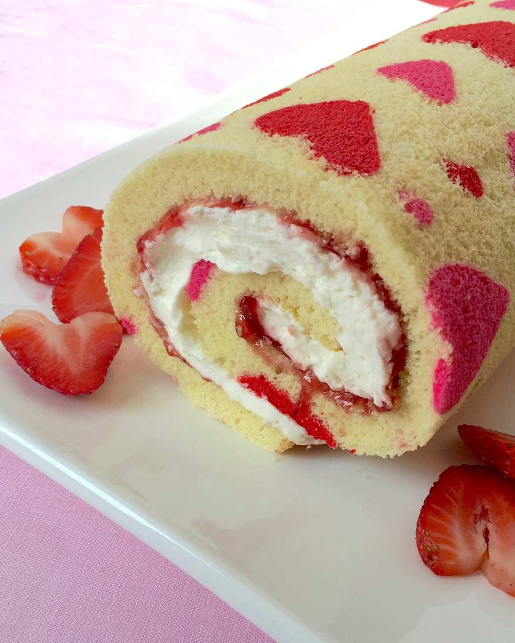 Valentine S Day Strawberry Cake Roll