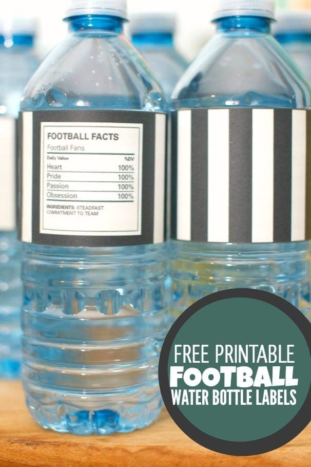 Spaceships and Laser Beams Super Bowl Water Bottle Labels