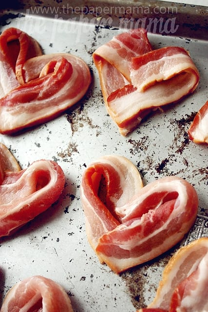 The Paper Mama Valentines Bacon Hearts