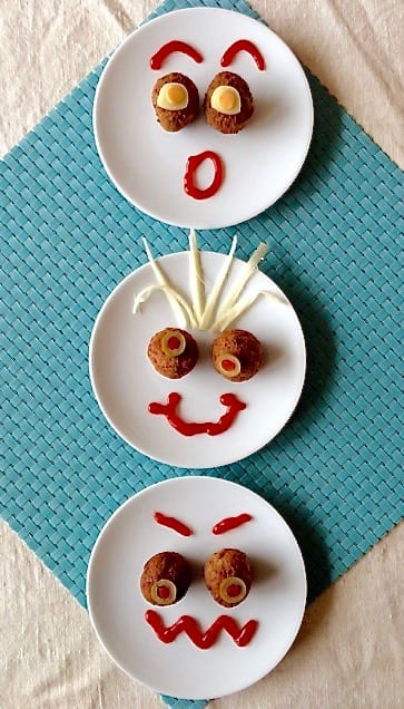 Meatball Funny Face Snacks