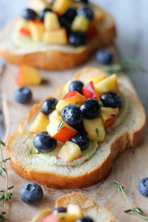 Blueberry and Peach thyme Salsa