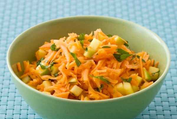 Shredded Carrot Salad with Apples and Lime is a healthy and fresh side dish for any meal.