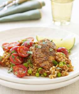 Make flavorful Arroz Con Pollo (or chicken and rice) in the slow cooker!
