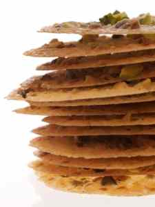 Pistachio Lace Cookies stack