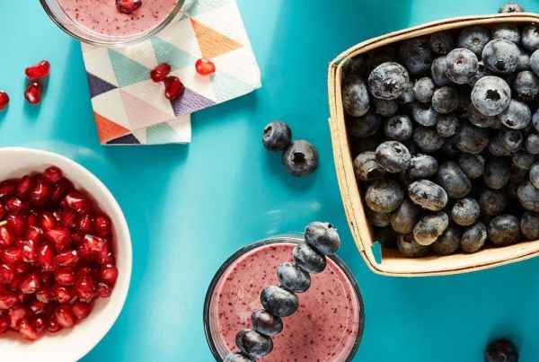 Blueberry Ginger Sizzle Smoothie makes the morning better.