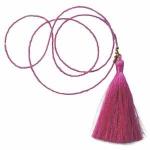 LibbeSmee pink tassle necklace