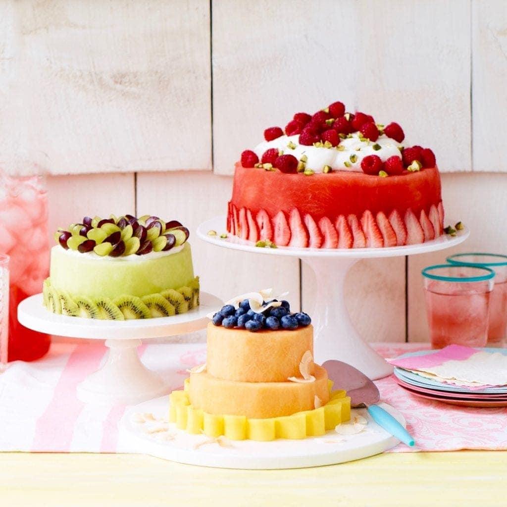 Make A Fresh Melon Cake With Watermelon Honeydew Or