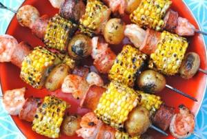 It's tailgating season! Forget burgers, try these fun kabob recipes at your next tailgate party. They've got meat, veggies, fruit and even candy!