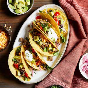 Chili Beef Tacos for dinner