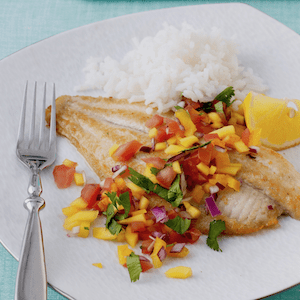 Fish with mango salsa for an easy dinner