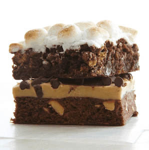 Homemade Brownies stacked