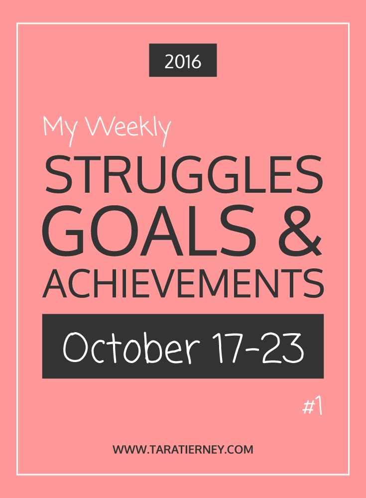 Weekly Struggles Goals Achievements PIN 1 | Tara Tierney