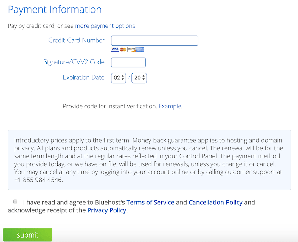 6 - Fill Out Your Payment Information