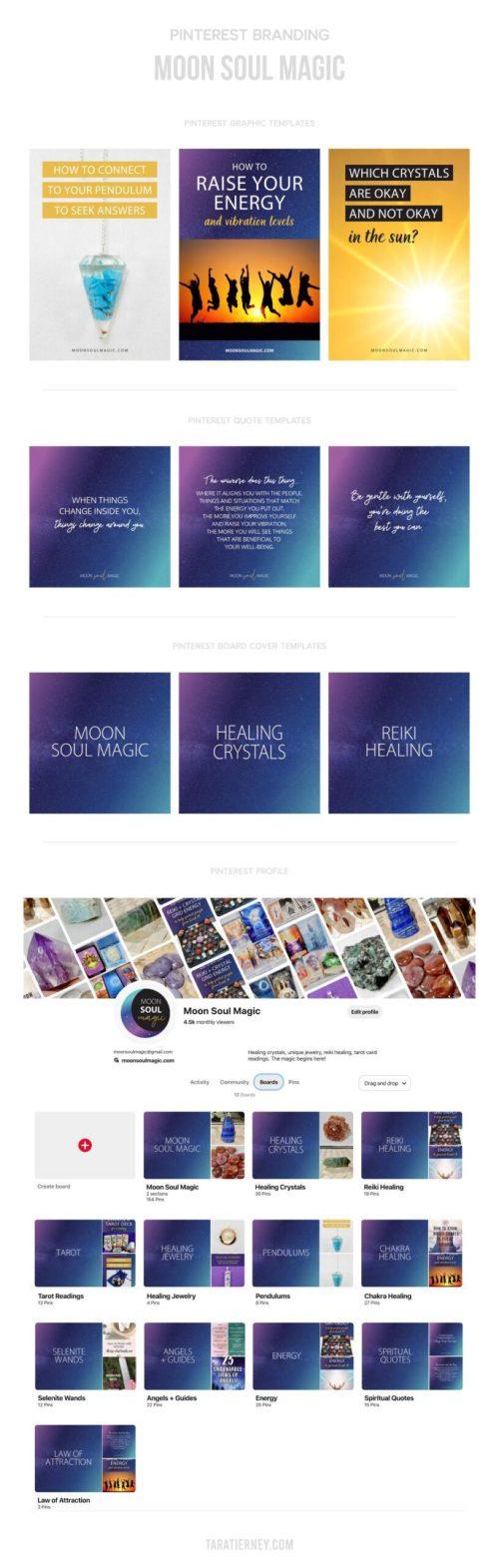 Pinterest Branding - Moon Soul Magic