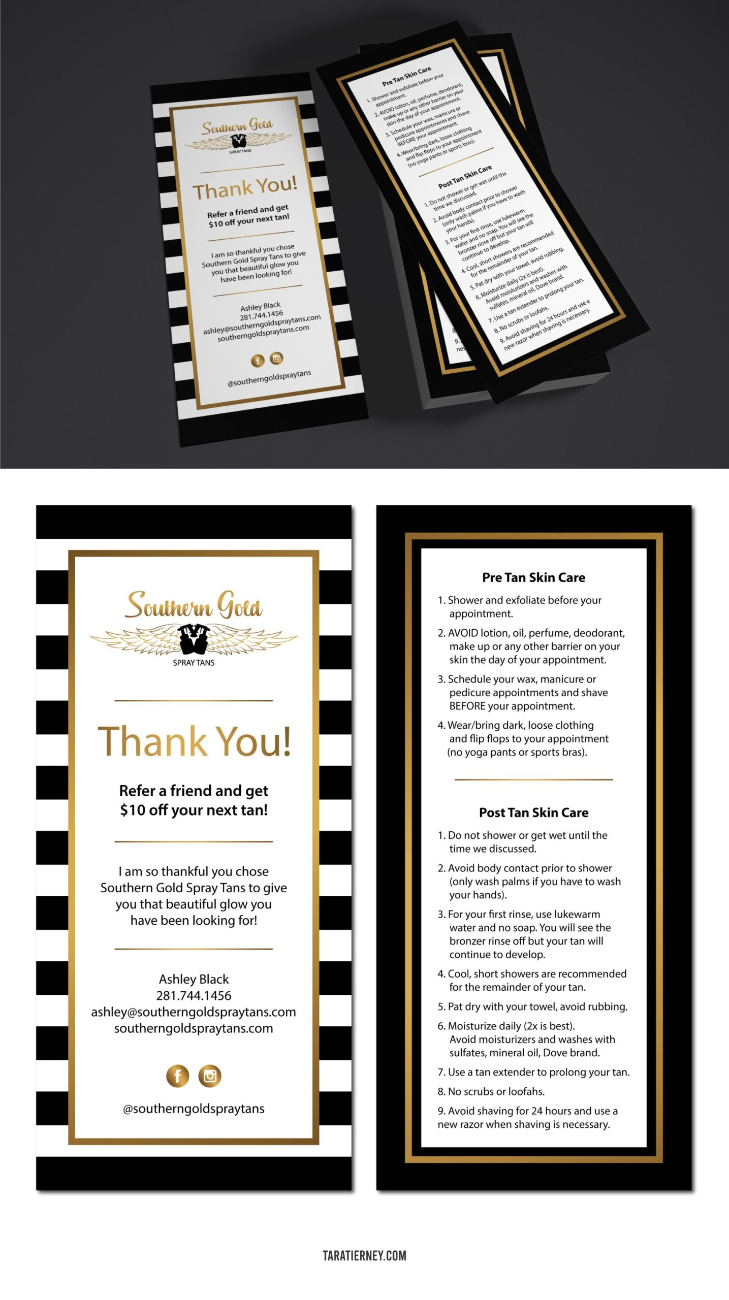 Rack Cards Southern Gold Spray Tanning