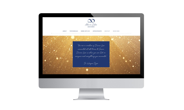 Alexia Silva Website Desktop Mockup