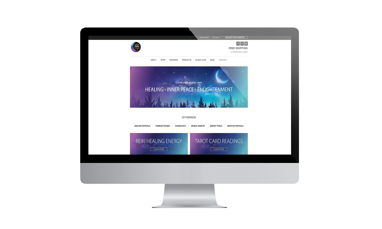 Moon Soul Magic Website Desktop Mockup