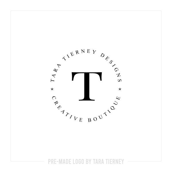 Simple Circle Logo with Initial