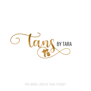 Gold Spray Tan Logo with Spray Gun