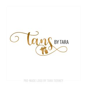 Gold Spray Tan Logo with Spray Gun