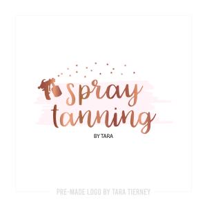 Rose Gold Spray Tanning Logo