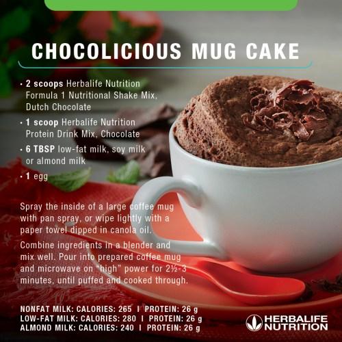 Herbalife Chocolicious Mug Cake Recipe