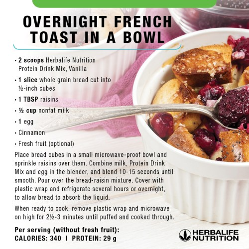 Herbalife Overnight French Toast in a Bowl
