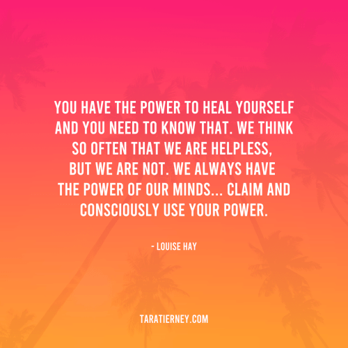 You have the power to heal yourself