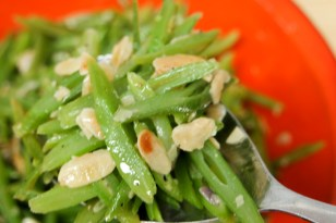 Runner Beans with Toasted Almonds and Garlic