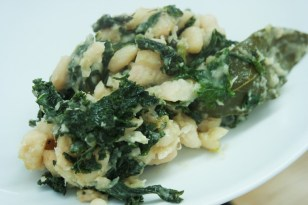 Braised Cannellini Beans with Garlicky Kale