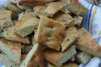 Loads and loads of focaccia, perfect for dipping into soup.