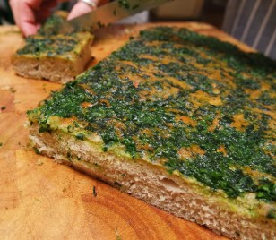 Flatbread with Wild Garlic Pesto