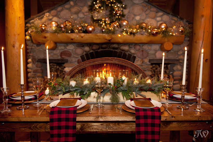 Wapiti Longhouse decorated for Christmas by Naturally Chic captured by Tara Whittaker Photography