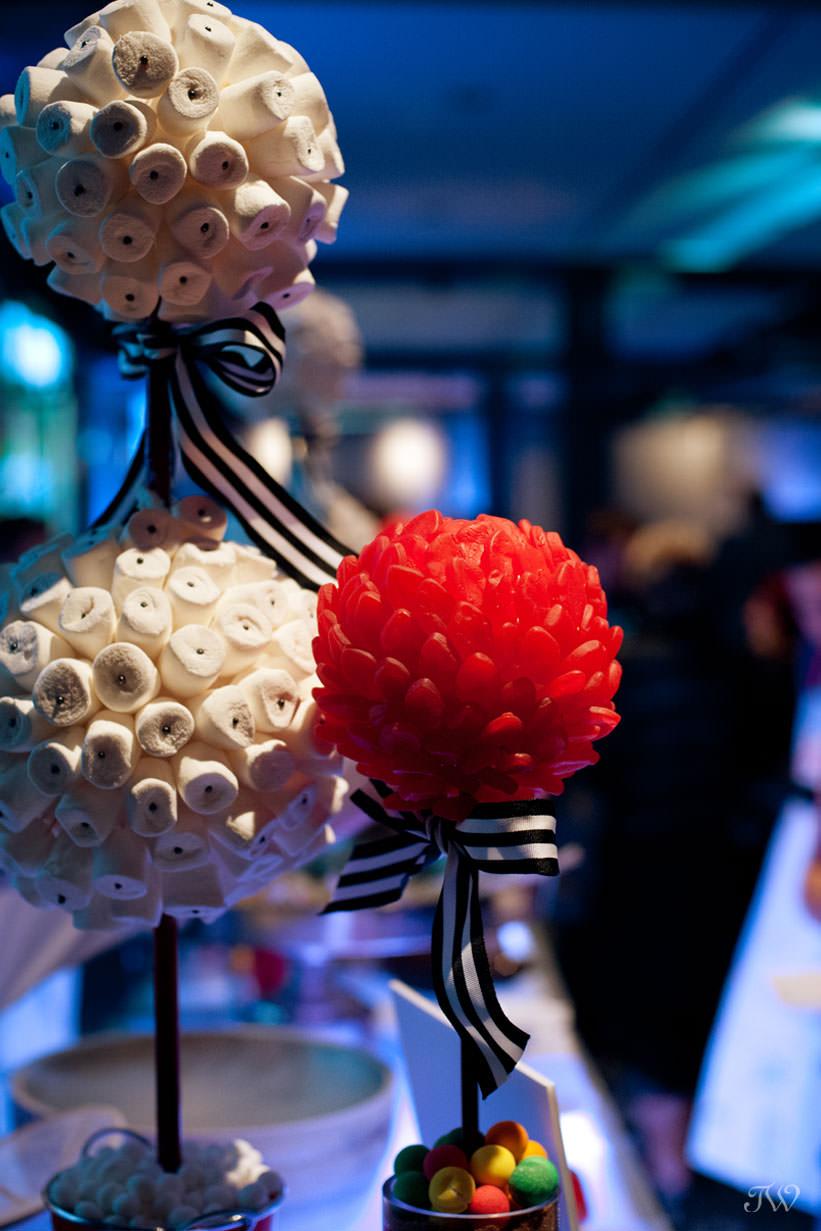 Dessert bar at Hudson, downtown wedding venue in Calgary captured by Tara Whittaker Photography