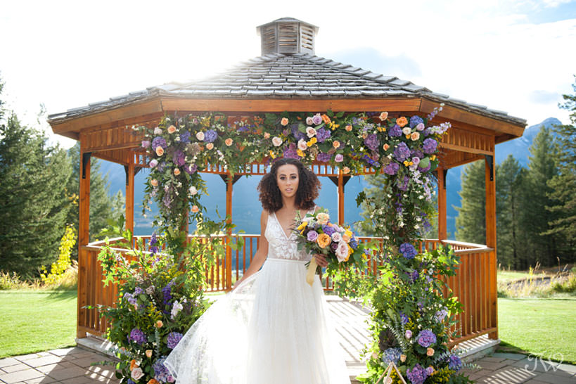 Gazebo at Silvertip Resort mountain wedding locations captured by Tara Whittaker Photography