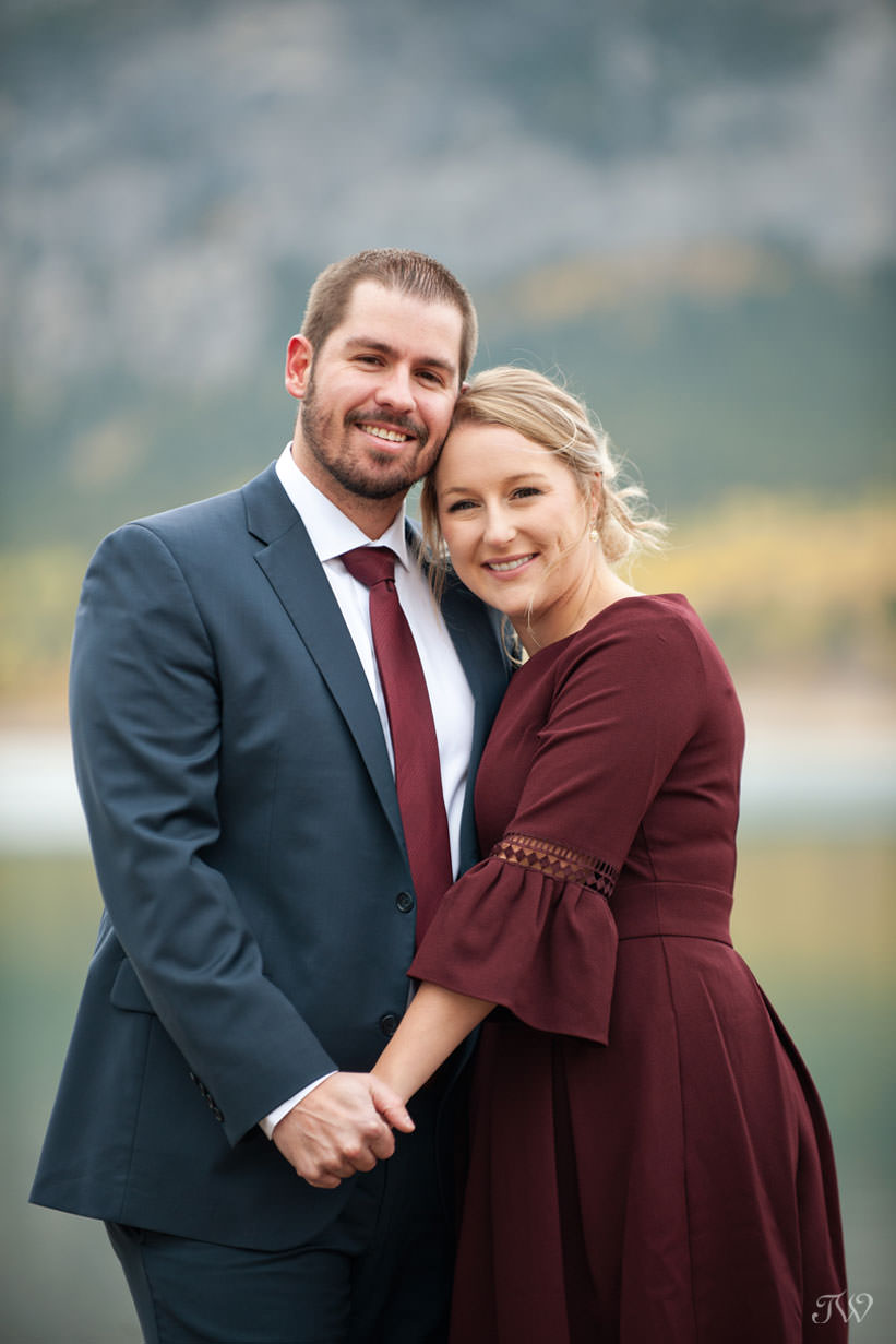where to take engagement photos in the Rockies Barrier Lake Tara Whittaker Photography