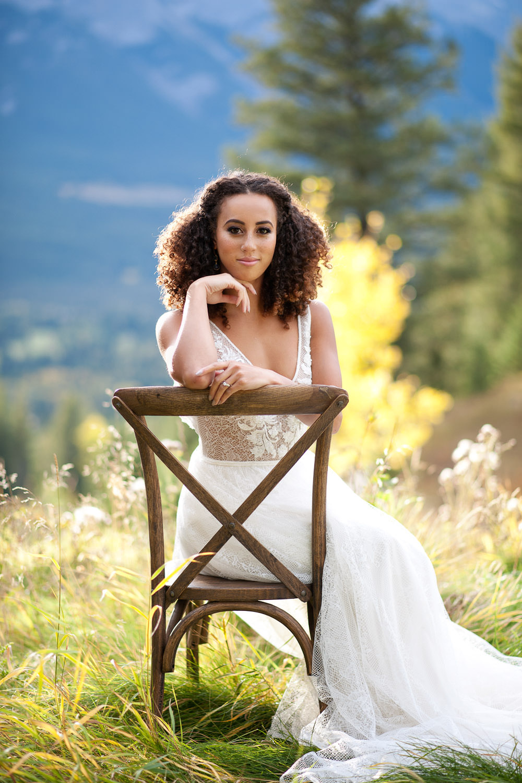 Silvertip bride in autumn Calgary wedding portfolio for Tara Whittaker Photography