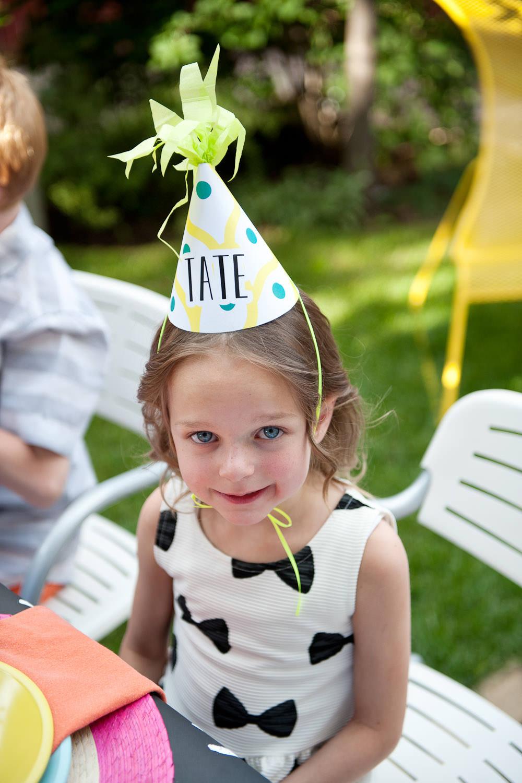 little girl wearing party hat at wedding Calgary wedding portfolio Tara Whittaker