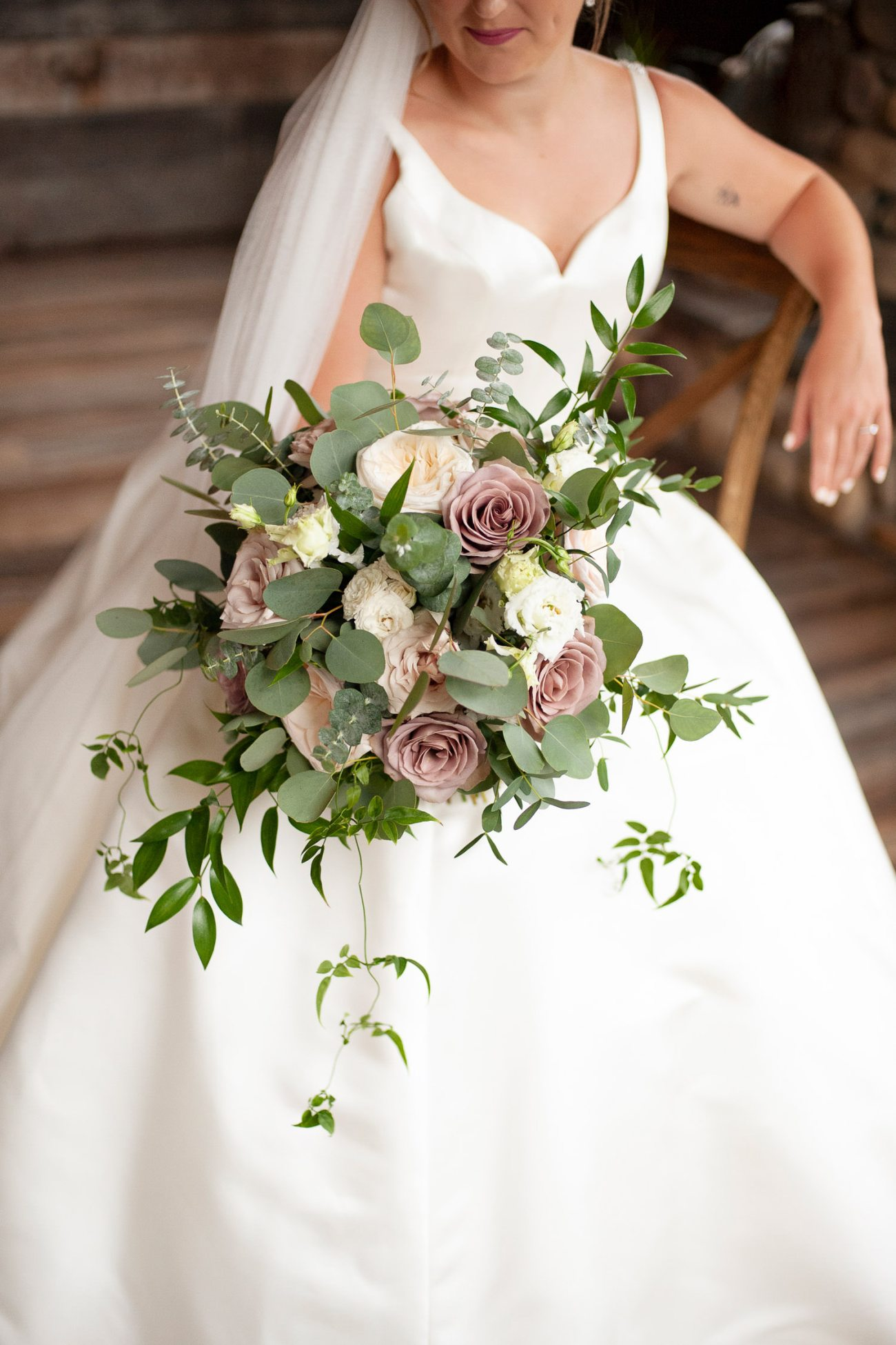 Bridal bouquet from Willow Flower Co. in Canmore captured by Tara Whittaker Photography
