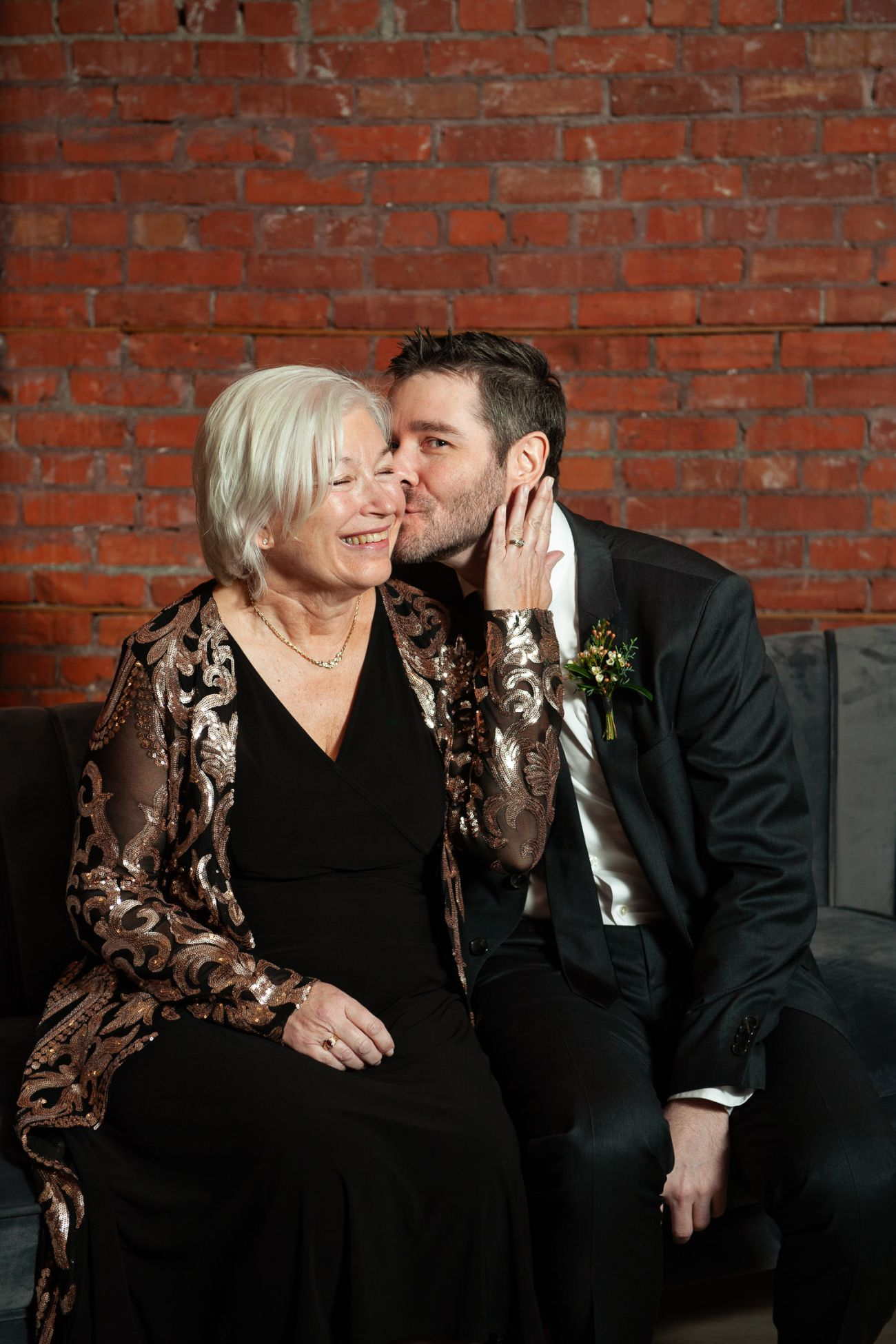Groom and his Mom during family photos at Venue 308 captured by Tara Whittaker Photography