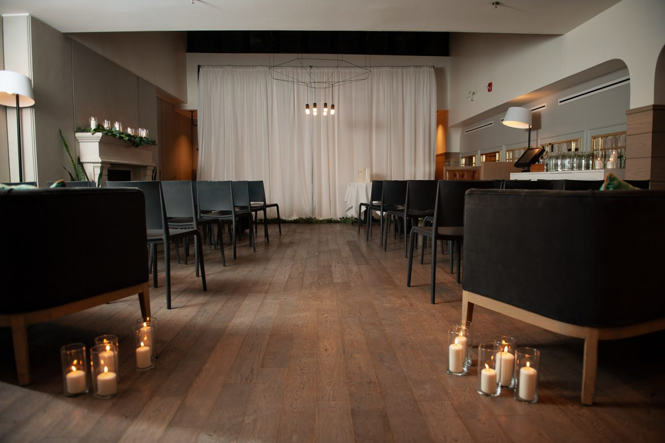Ready for the intimate wedding ceremony at Alforno in Calgary