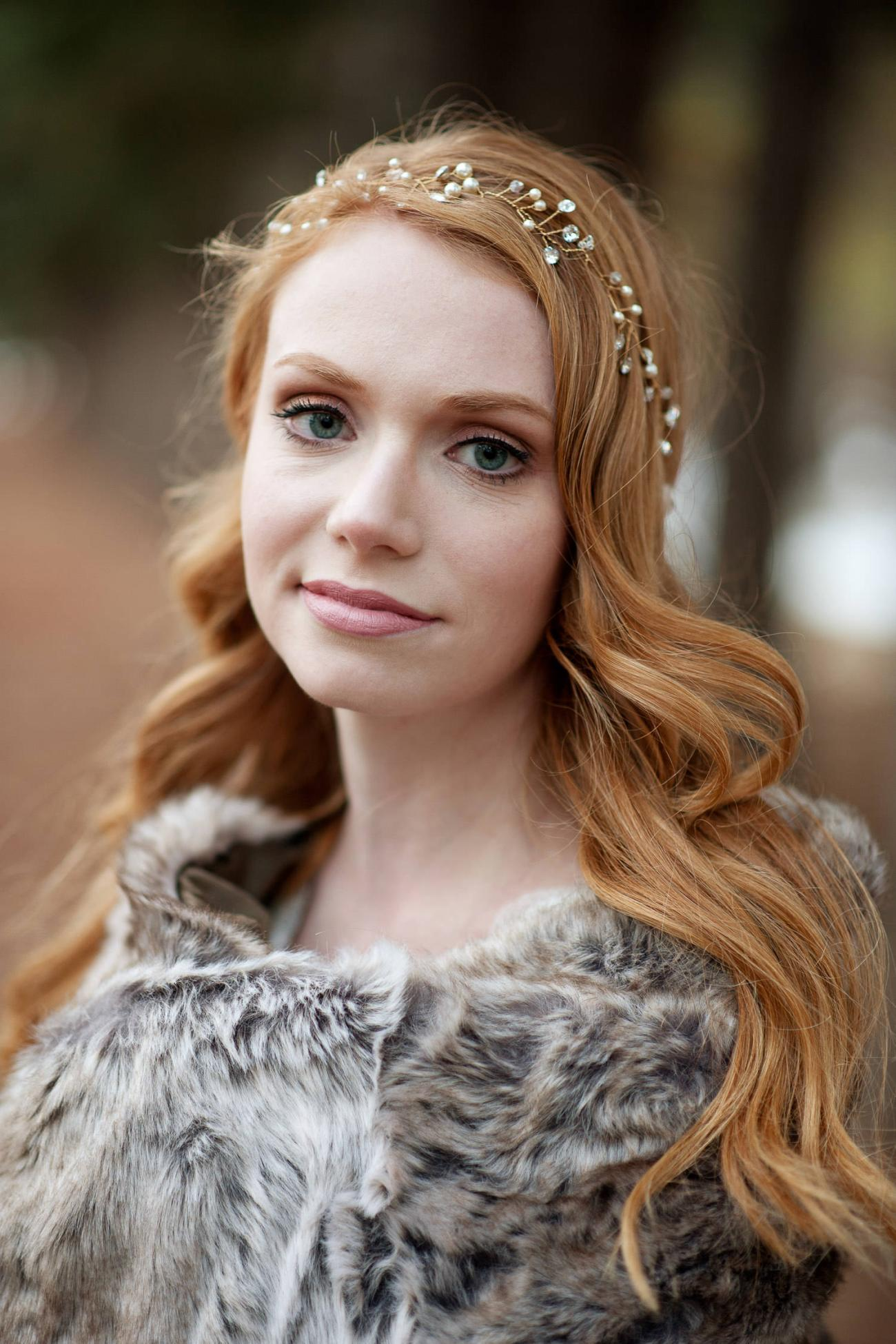portrait of a fall bride captured by Tara Whittaker Photography