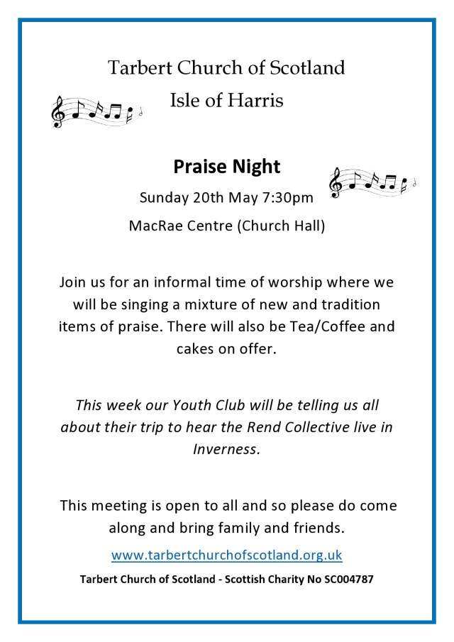 Praise Night Poster May 2018