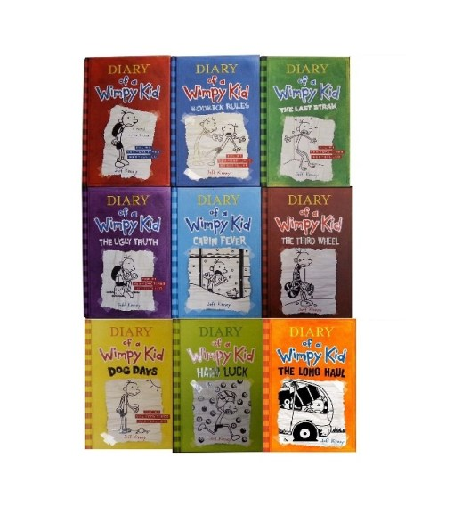 Diary of a Wimpy Kid Book 1-9 Complete Hardcover Set