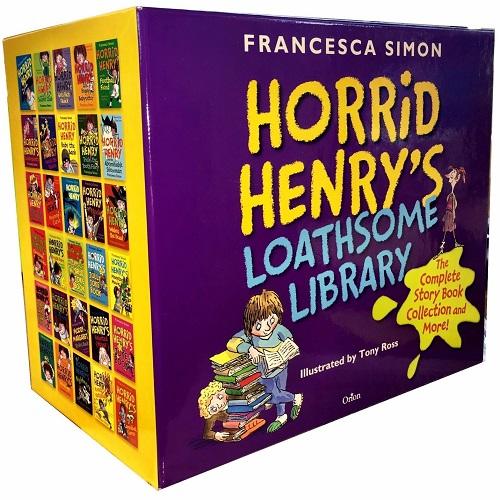 Horrid Henrys Loathsome Library 30 Books Collection Box Gift Set Francesca Simon