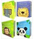 Wildlife Animals Collection Usborne Touchy-Feely 4 Books Set